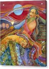 Wine Woman And Song Acrylic Print