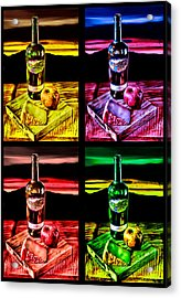 Wine X 4 Acrylic Print by Sharon Beth