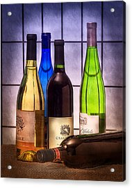 Wines Acrylic Print by Tom Mc Nemar