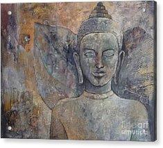 Winged Buddha Acrylic Print by Paulina Garoa