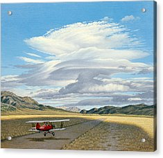 Winged Dreams -travelaire Biplane Acrylic Print by Paul Krapf