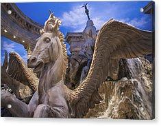 Winged Horse Acrylic Print by Glenn DiPaola