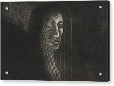 Winged Medusa Acrylic Print by Pati Hays