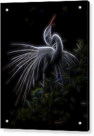 Acrylic Print featuring the digital art Winged Romance 2 by William Horden