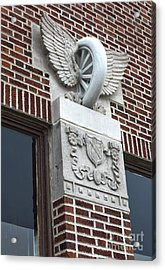 Winged Tire - Grinnell Iowa Acrylic Print by Gregory Dyer