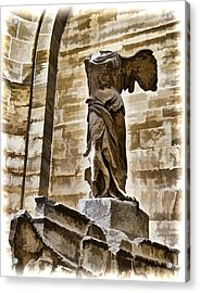 Winged Victory - Louvre Acrylic Print by Jon Berghoff