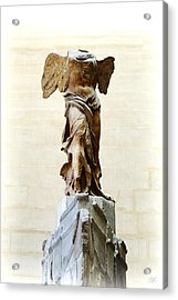 Winged Victory Of Samothrace Acrylic Print by Conor O'Brien