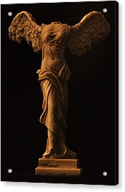 Winged Victory Of Samothrace Acrylic Print by Joseph Pugliese