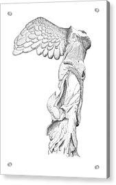 Winged Victory Of Samothrace Acrylic Print by Steven Tomadakis