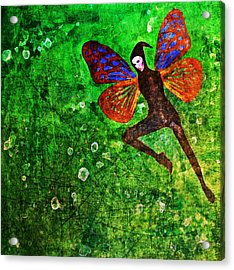 Acrylic Print featuring the digital art Wings 10 by Maria Huntley