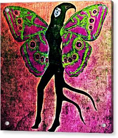 Acrylic Print featuring the digital art Wings 11 by Maria Huntley