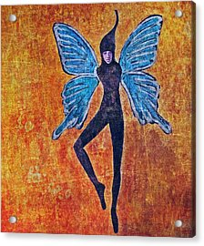 Acrylic Print featuring the digital art Wings 16 by Maria Huntley