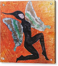 Acrylic Print featuring the digital art Wings 4  by Maria Huntley