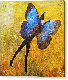 Acrylic Print featuring the digital art Wings 5  by Maria Huntley