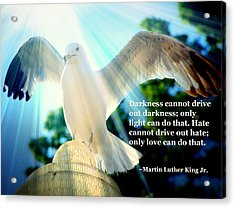 Wings Of Freedom Illuminated With Martin Luther King Jr. Quote II Acrylic Print