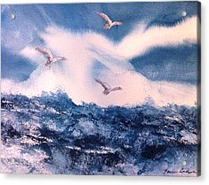 Wings Of The Wind Acrylic Print by Karen  Condron