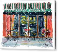 Wining And Dining Acrylic Print