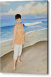 Acrylic Print featuring the painting Winking At The Sun by Alan Lakin