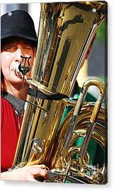 Winking Musician Acrylic Print by Susan Hernandez
