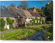 Winkle Street Calbourne Isle Of Wight Acrylic Print by David Ross