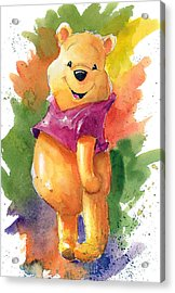 Winnie The Pooh Acrylic Print by Andrew Fling