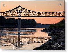 Winona Bridge Photo Early Morning Bridge Acrylic Print