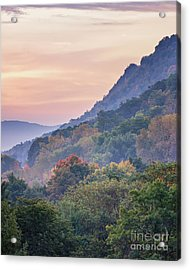 Acrylic Print featuring the photograph Winona Fall Colors Slopes II by Kari Yearous