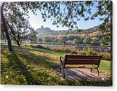 Acrylic Print featuring the photograph Winona Gift - Seat With A View by Kari Yearous
