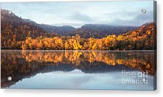 Acrylic Print featuring the photograph Winona Mn Fall Colors Panorama No Towers by Kari Yearous