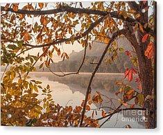 Winona Photograph Sugarloaf Through Leaves Acrylic Print