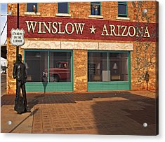Acrylic Print featuring the photograph Winslow Arizona by Bob Pardue