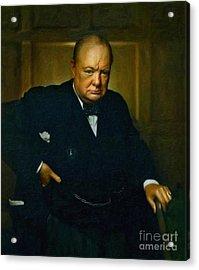 Winston Churchill Acrylic Print by Adam Asar