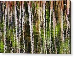 Winter Abstract Acrylic Print by Carolyn Marshall