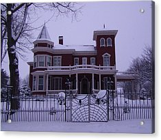 Winter Afternoon At Stephen King Victorian Mansion In Bangor Maine Acrylic Print