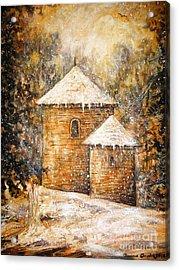 Winter Angel Acrylic Print