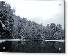 Winter At Clear Creek Acrylic Print by Anthony Thomas