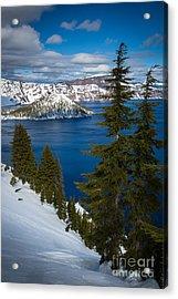 Winter At Crater Lake Acrylic Print