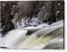 Winter At Dillon Falls Acrylic Print
