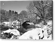 Winter At Gapstow Bridge Acrylic Print