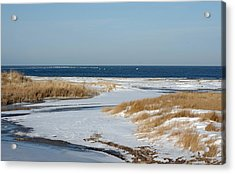 Winter At Hereford Inlet Acrylic Print by Greg Graham