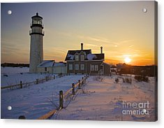 Winter At Highland Lighthouse Acrylic Print
