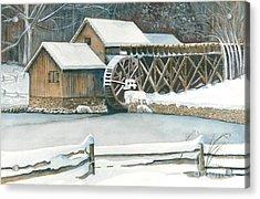 Winter At Mabry Mill Acrylic Print