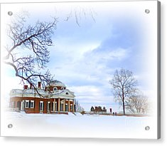 Winter At Monticello Acrylic Print