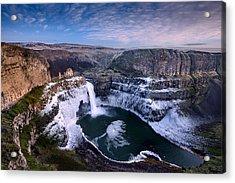 Winter At Palouse Falls Acrylic Print by Dan Mihai