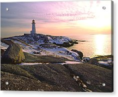 Winter At Peggy's Cove Acrylic Print
