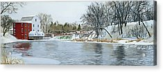 Winter At Phelps Mill Acrylic Print