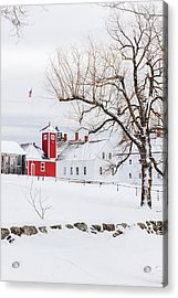 Acrylic Print featuring the photograph Winter At Shaker Village by Robert Clifford
