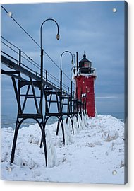 Winter At South Haven Lighthouse Acrylic Print