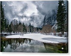 Winter At Swinging Bridge Acrylic Print