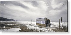 Winter At The Cabana Acrylic Print by Scott Norris